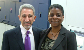 Ursula Burns with MBA's Bachar Aintaoui