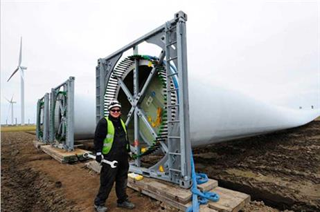 The turbine has a 139-metre tower, designed to allow it to be installed in forrested areas.