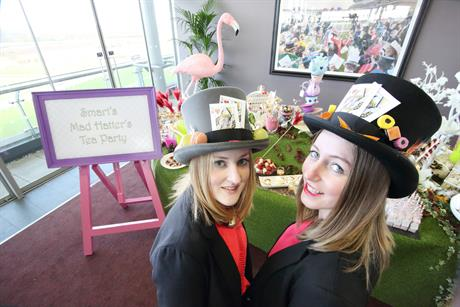 Smart Group hosted a Mad Hatter's tea party at Ascot's Chase Raceday