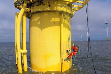 Rope access specialists Abfad refurbished monopile foundations at the 60MW Scroby Sands project