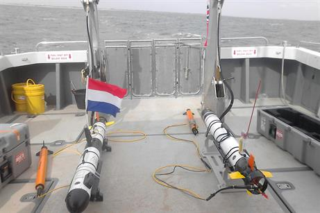 Seabed is initially scanned using AUVs (pictured) or sonar
