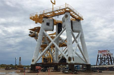 Fabrication of Block Island's foundations is underway in Louisiana, US