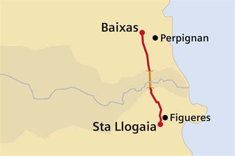 The cable travels from southern France into northern Spain