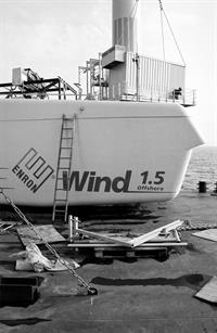 Enron had a brief foray into offshore wind, but only managed to install one of its 1.5MW turbines before being taken over by GE