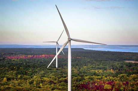 GE's 2.85MW turbine at McLean's Mountain project, Canada