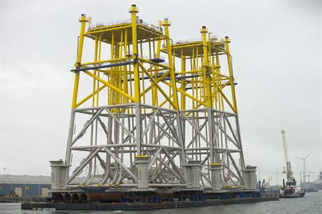 The jackets to support Gemini's substations are ready for installation
