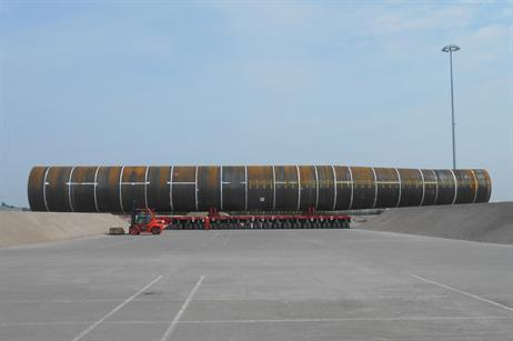 They were delivered to the Breakbulk and Offshore Wind Terminal in Vlissingen