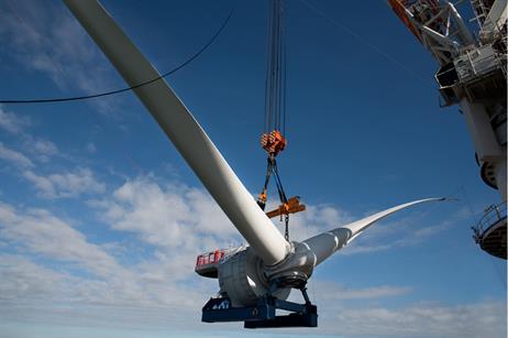 Alstom's Haliade 150-6MW turbine has been installed