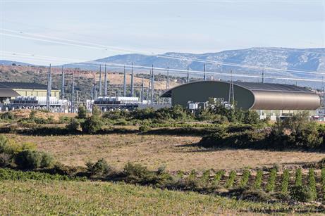 Converter station at Baixas, southern France