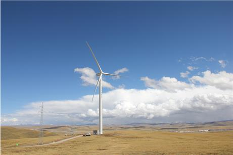 The 49.5MW Naqu wind project in Tibet. Located 4,700 metres above sea level with Guodian United Power's 1.5MW turbine