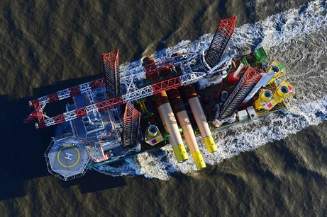 DECEMBER: The first foundations are sailed out to the Nordsee One site off the coast of Germany