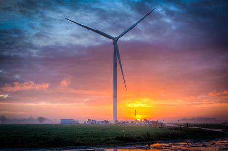 The turbine has a total height of 195 metres