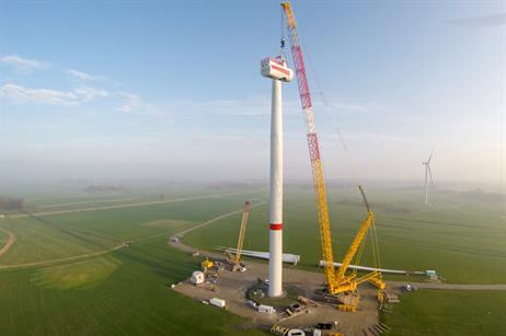 The turbine has a top-head mass of 230 tonnes