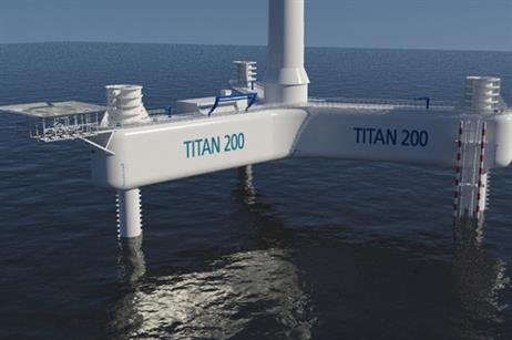 Offshore Wind Systems of Texas designed the Titan floating platform
