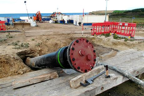 The pipe will carry the project's export cable
