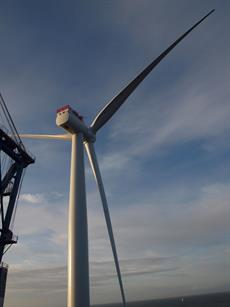 This is the first of 35 turbines set to be installed on the project