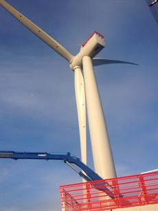 Turbine installation is due to be completed in the first half of 2015