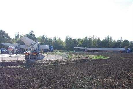 Delivery started in early October at the site in Cambridgeshire