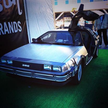 The Dolorean from Back to the Future