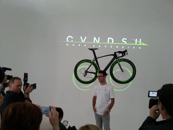 Cavendish speaking at the launch of the new brand