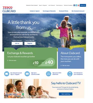 The new Tesco Clubcard website