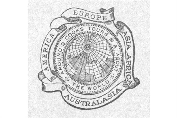 A fifth continent, Australasia, was added to the ribbons around the globe in 1914, to reflect Thomas Cook's expanding global business.