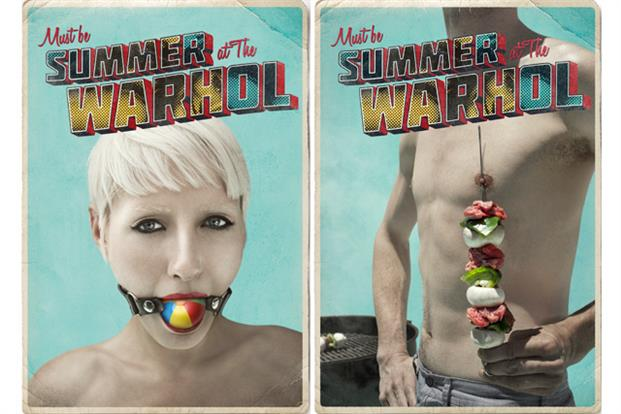 Twisted takes on summer imagery used to promote Andy Warhol Museum
