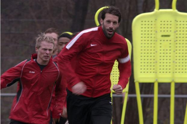 Ruud van Nistelrooy in training