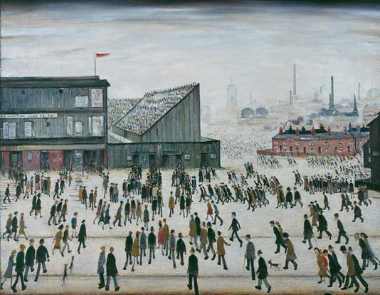 LS Lowry, Going to the Match, 1953, The Lowry.jpg