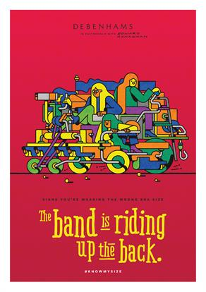 'The band is riding up the back' by Edward Carvalho-Monaghan
