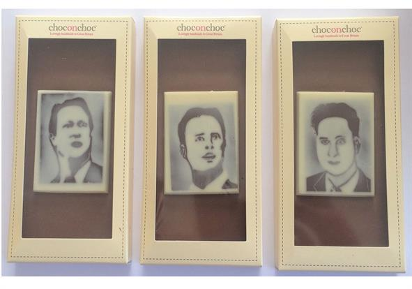 In response Palm PR asked Choc on Choc to produce a collection of political chocolate bars emblazoned with the faces of the main party leaders David Cameron, Ed Miliband and Nick Clegg.