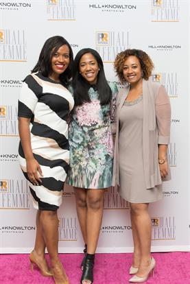 PRWeek's PR Champions: Alencia Johnson, Planned Parenthood Federation of America; Lauren Wesley Wilson, ColorComm; and I'sys Caffey, Edelman