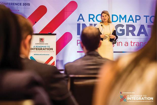 Sally Susman, EVP of corporate affairs at Pfizer, delivered the keynote address, 'Why 21st Century Businesses Need PR to Succeed.'