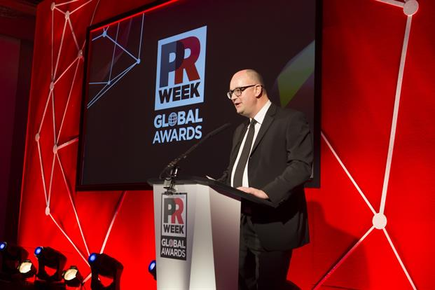Steve Barrett, editor in chief of PRWeek US kicked off proceedings.