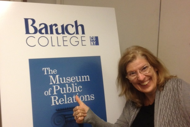 PRWeek executive editor Bernadette Casey was overcome with excitement upon our arrival at the PR Museum.