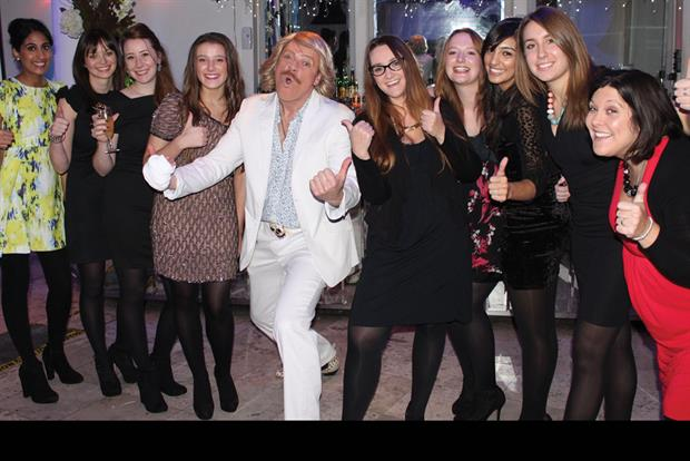 Beware ladies, there is a wolf in sexy 70s sheep's clothing in your midst. Keith Lemon kept it characteristically restrained at Cirkle's third annual awards bash for the agency's media contacts, pelvic thrusts and all...