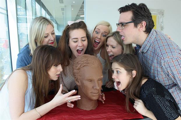 This is the UKTV comms team salivating over a chocolate sculpture of actor Benedict Cumberbatch. The Easter PR stunt was to launch UKTV's on-demand drama channel, UKTV Play. The campaign went global, with more than 55 million Twitter impressions and international press coverage.