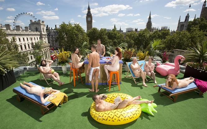 NowTV encourages Brits to go 'clothes-free' in London