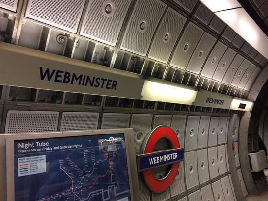 Amazon take over Westminster tube station