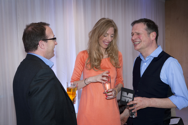 Editor Claire Beale with Ocean Outdoor's Tim Bleakley and TBWA's Peter Souter