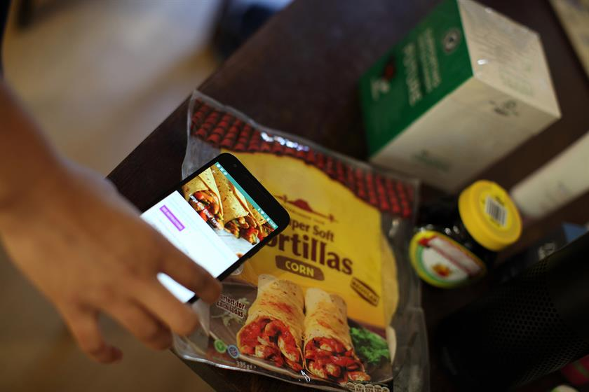 Scanning tortillas offered recipes and ingredients suggestions