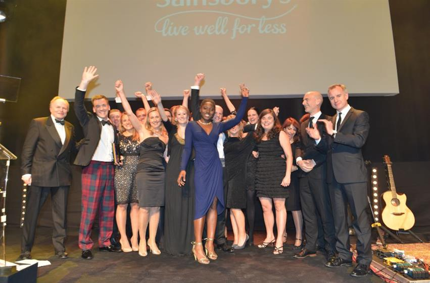 Sainsbury's team celebrates winning Brand of the Year 2013