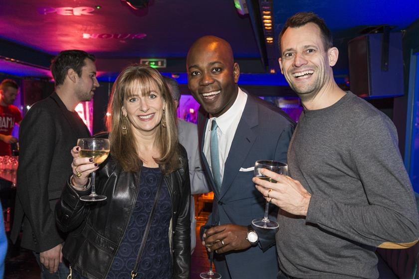 Thinkbox chief executive Lindsey Clay and Saatchi & Saatchi's Magnus Djaba and Richard Huntington