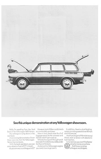 7 'See this unique demonstration at any Volkswagen showroom' (1972)