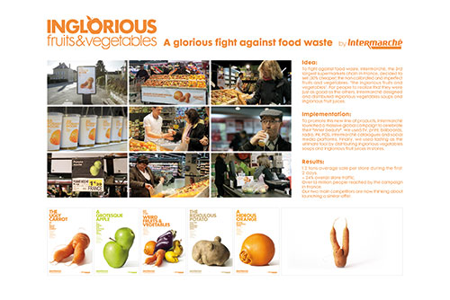 Intermarché 'inglorious fruits & vegetables' by Marcel
