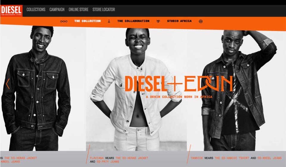 Diesel: set up the creative showcase Studio Africa with Edun