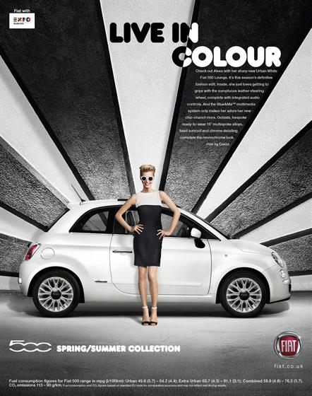 9. Kit Kat, 'storm',10. Fiat, 'spring/summer collection'