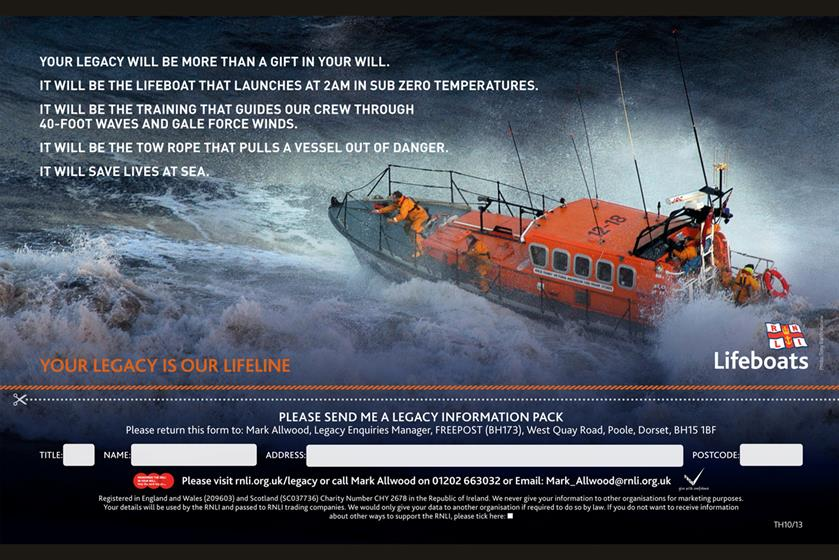 1. RNLI, 'your legacy is our lifeline'