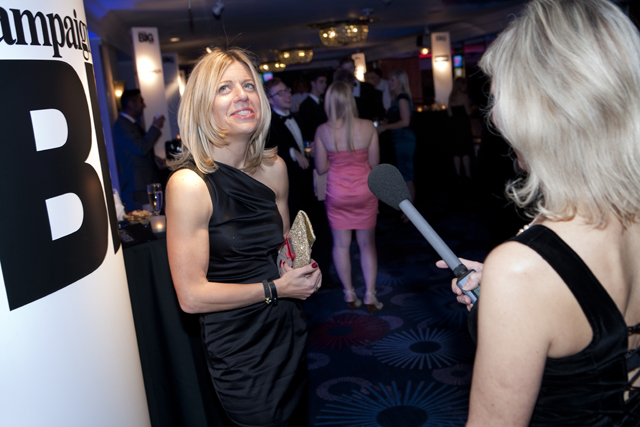 Campaign's Suzanne Bidlake catches Camilla Harrison (M&C Saatchi) on the red carpet