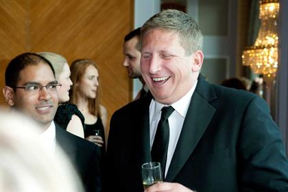 AMV BBDO chief executive, Iain Pearman celebrates a successful evening